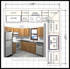commercial kitchen cabinets design with free dish rack view