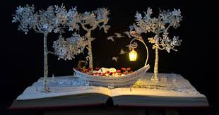 Upcycle Old Books - i upcycle old books by turning them into magical sculptures