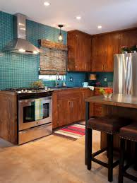 Green Tile Kitchen Backsplash by Kitchen Style Dark Brown Laminated Wooden Kitchen Cabinet Ceramic