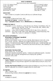Resume Skills Summary Examples Resume Information Technology Resume Skills Examples For A