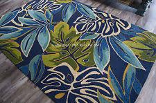 Coastal Outdoor Rugs Polypropylene Indoor Outdoor Tropical Area Rugs Ebay
