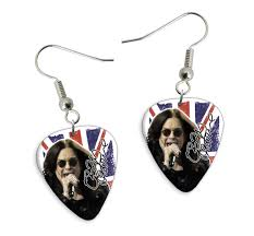 osbourne earrings printed guitar picks shop products band products earrings