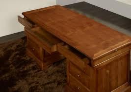 bureaux bois massif bureau ministre 9 tiroirs zoé en merisier massif de style louis