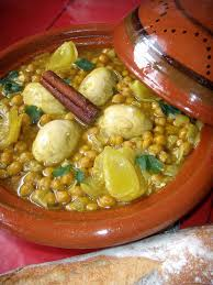 cuisiner le mouton tajine de rognons blancs aux pois chiches maroc yum