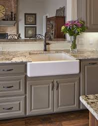 Kitchen Countertop Ideas White Ice Granite Countertop Apron Sink - Kitchen counter with sink