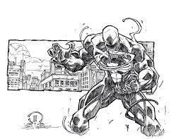venom sketch commish by joeyvazquez on deviantart