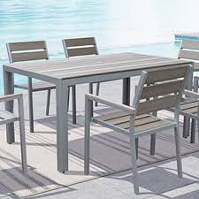 powder coated aluminum outdoor dining table powder coated aluminum outdoor dining tables for less overstock com
