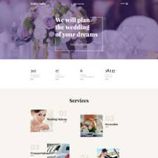 Wedding Planning Certification Wedding Planner Website Templates
