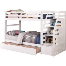 White Bunk Bed With Trundle Modern Bunk Beds Allmodern