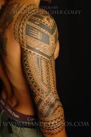 maori sleeve shane tattoos polynesian 3 4 sleeve