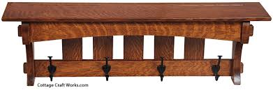 arts and crafts mission furniture wall racks shelves coat racks