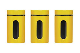 yellow kitchen canisters premier housewares storage canisters yellow set of 3 co