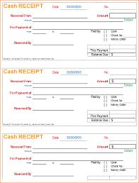 6 cash receipt template outline templates