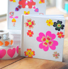 cover a blank journal canvas or plain greeting card with heart