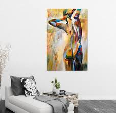 Body Art Portrait Painting Sexy Girl Nude Figure Oil Painting - Wall paintings for home decoration