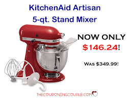 Kitchenaid Artisan Mixer by Kitchenaid Artisan 5 Quart Mixer Only 146 24 Down From 349 99