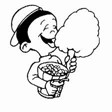 sweets and candy coloring pages