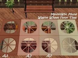 mod the sims wagon wheel transparent floor tiles