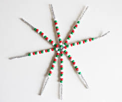 pony bead christmas ornaments cutesy crafts