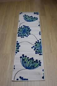 Floral Runner Rug Element Bloom Green Floral Rug Buy Rugs In The Uk