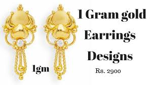 3 gram gold earrings one gram gold earrings designs 916 one gram gold jewels