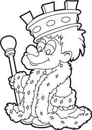 free printable cartoon king coloring kids