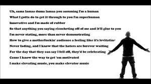 best part lyrics spanish eminem rap god fast part youtube