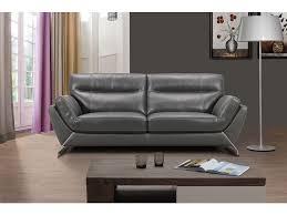 canapé conforama cuir canapé fixe en cuir 3 places coloris gris prix promo canapé