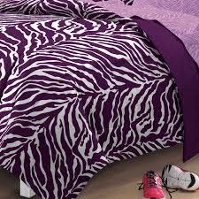 Queen Zebra Comforter Purple Zebra Bedding Twin Xl Full Queen Teen Bed In A Bag