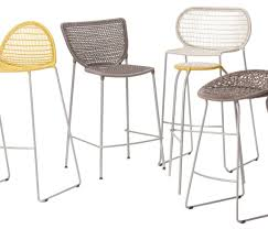 stools bar table set with barstools 7 piece outdoor wicker