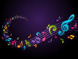 colorful music notes background wallpaper