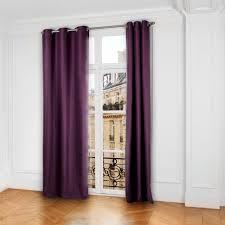 rideau chambre parents occultant à oeillets lina violet madura