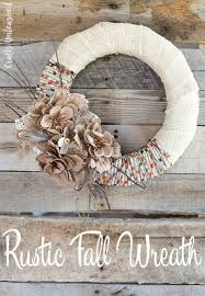 fall wreaths fall wreath diy project idea burlap yarn consumer crafts