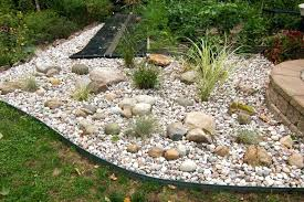 River Rock Garden Bed River Rock Garden Bed Image Of Landscaping With River Rock Plan