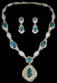 gemstone silver necklace images Dina huntinghorse rare gem grade candelaria spiderweb turquoise jpg
