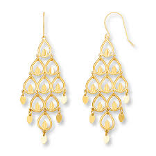 gold chandelier earrings chandelier earrings 14k yellow gold