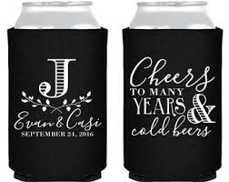 koozies for weddings wedding koozies etsy