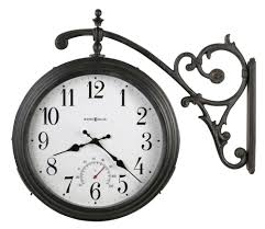 Patio Clock And Thermometer Sets by Outdoor Clocks For Outdoor Living Areas The Clock Depot
