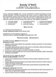 Sample Resume Of A Teacher by Sample Resume For Teachers Bilder