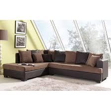 canapé d angle marron canapé d angle à gauche camel et marron paros maison et styles