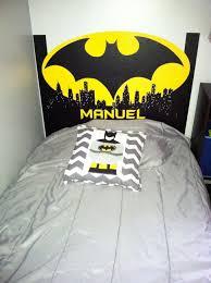 batman headboard in vinyl super heroes room decor pinterest