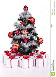Small Decorated Christmas Tree Gift by Small Christmas Tree With Lots Of Presents Royalty Free Stock