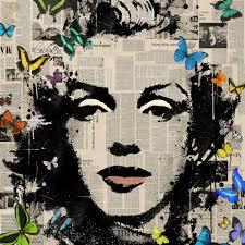 Marilyn Monroe Art Veebee Marilyn Monroe Butterflies Art Pinterest