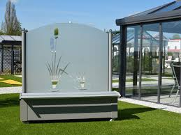 Trennwand Garten Glas Windschutz Aus Glas Für Garten Und Terrasse