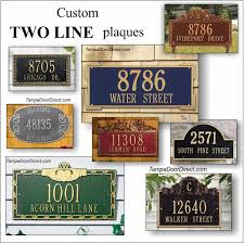 address plaques address signs the glass door store
