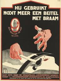 vintage dutch safety posters look like horror movie posters