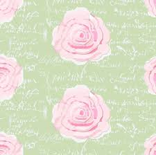 shabby chic painted roses on summer green with white french script