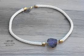 necklace stone diy images My diy stone rope necklace jpg