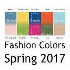 colors spring 2017 blurred fashion infographic with trendy colors of the 2017 spring