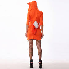 Womens Fox Halloween Costume Shop Free Shipping Cute Orange Tail Fox Halloween Costume